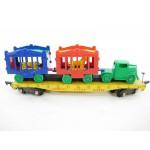 American Flyer No. 643 Die Cast Circus Flatbed Reproduction Tractor & Cages