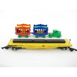 American Flyer No. 643 Pressed Wood Circus Flatbed Reproduction Tractor & Cages