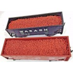 Two Red Granite Artificial Loads for American Flyer Two-Bay Hoppers & Gondolas