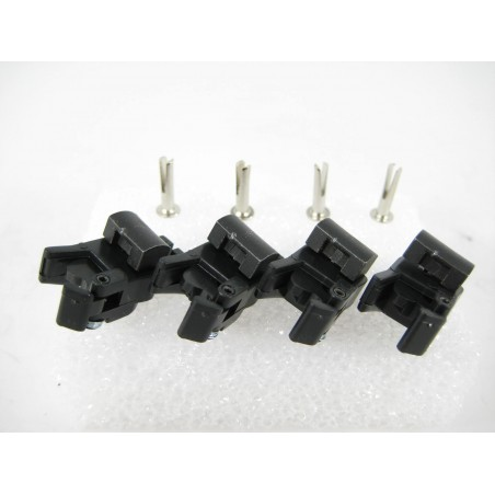 4 American Flyer Universal Knuckle Couplers with Rivets