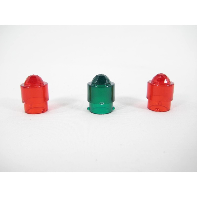 1 Green 2 Red American Flyer No. PA12A112 Jewel Top Lamp Covers for 18B & 30B