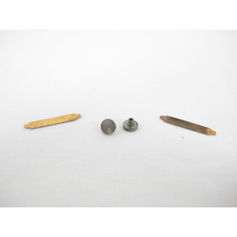 Two American Flyer Extension Knuckle Coupler Rivets & Two Centering Springs for Alco