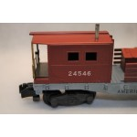 American Flyer No. 24546 Tuscan Painted American Flyer Lines Work and Boom Caboose