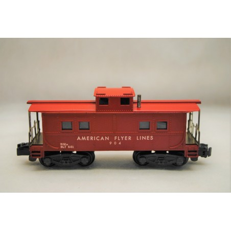 American Flyer No. 904 American Flyer Lines Red Painted Caboose