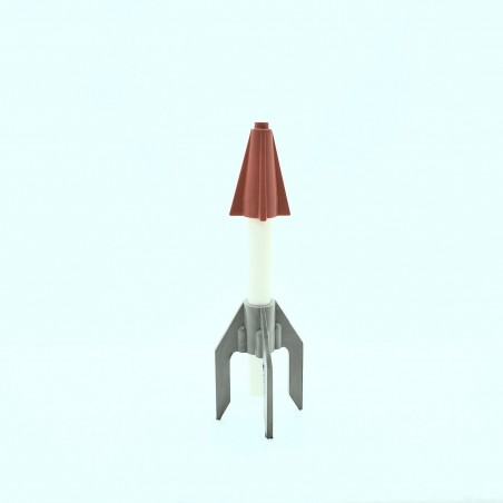American Flyer Red, White & Gray Reproduction Rocket