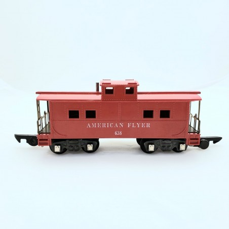 American Flyer No. 638 Red Not Illuminated American FlyerCaboose